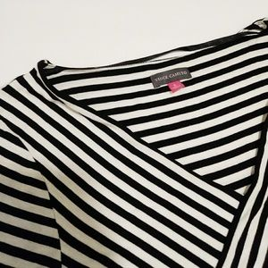 Vince Camuto Striped Long Sleeve Womens top